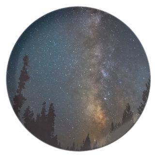 Assiettes En Mélamine Lumière de route de forêt