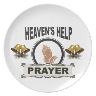 Assiettes En Mélamine mains d'aide et de prière