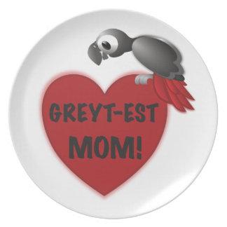 Assiettes En Mélamine maman Greyt-est ! - Perroquet de gris africain