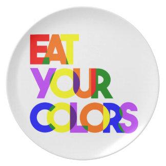 Assiettes En Mélamine Mangez votre plat audacieux de couleurs