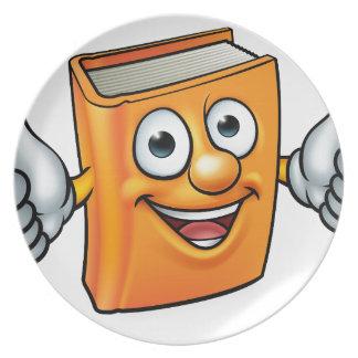 Assiettes En Mélamine Mascotte de caractère de livre de bande dessinée