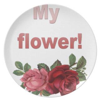 Assiettes En Mélamine Minha Flor