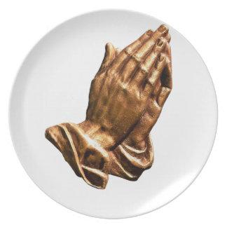 Assiettes En Mélamine ministère de prière de mains