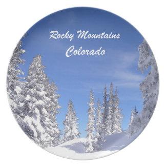 Assiettes En Mélamine Montagnes rocheuses de Milou le Colorado