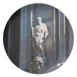 Assiettes En Mélamine Monument d'architecture de statue de dôme de
