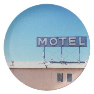 Assiettes En Mélamine Motel de plat de mélamine de Sepulveda