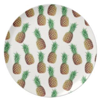 Assiettes En Mélamine Motif de papier peint d'ananas