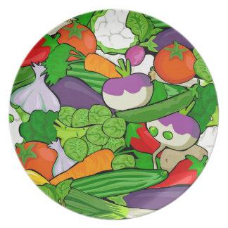 Assiettes En Mélamine Motif végétal