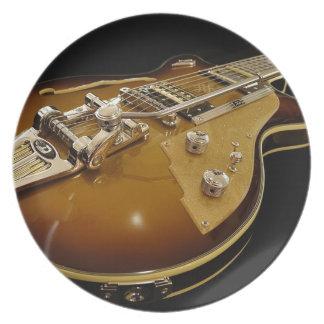 Assiettes En Mélamine Musique rock de musique d'instrument de guitare