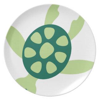 Assiettes En Mélamine Natation de tortue verte