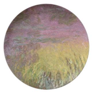 Assiettes En Mélamine Nénuphars de Claude Monet | au coucher du soleil