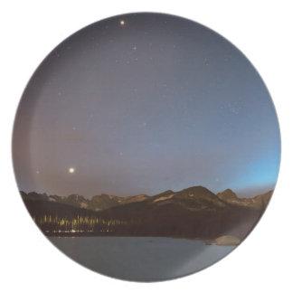 Assiettes En Mélamine Nuit de galaxie de lac colorado Brainard