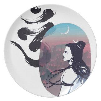 Assiettes En Mélamine Ohm en hausse de lune