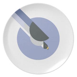 Assiettes En Mélamine Oiseau minimaliste abstrait