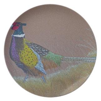 Assiettes En Mélamine Oiseau sauvage de faisan de cou d'anneau