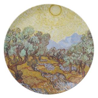Assiettes En Mélamine Oliviers de Vincent van Gogh |, 1889