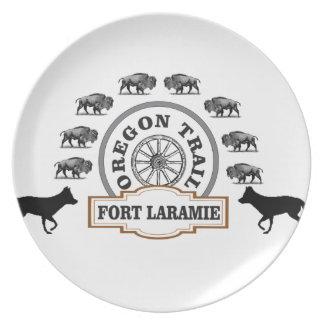 Assiettes En Mélamine or de Laramie de fort
