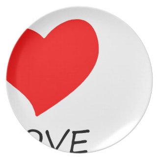 Assiettes En Mélamine paix love10
