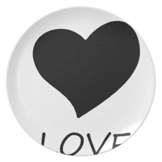 Assiettes En Mélamine paix love18