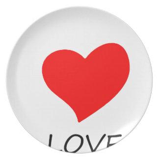 Assiettes En Mélamine paix love27