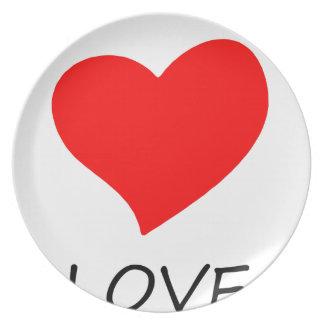 Assiettes En Mélamine paix love29