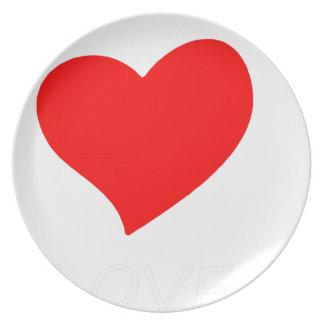 Assiettes En Mélamine paix love37