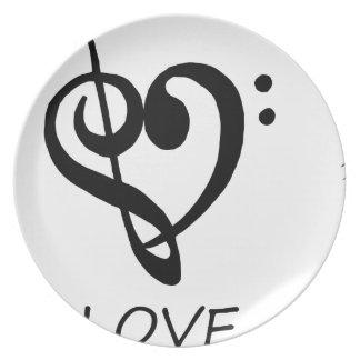 Assiettes En Mélamine paix love46