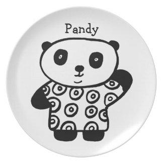 Assiettes En Mélamine Pandy personnalisé le panda