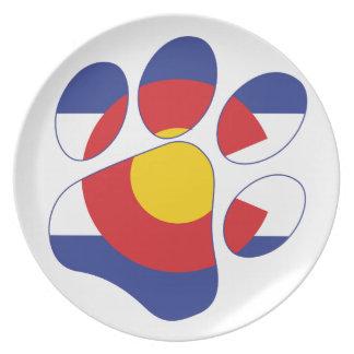 Assiettes En Mélamine Patte d'animal familier du Colorado