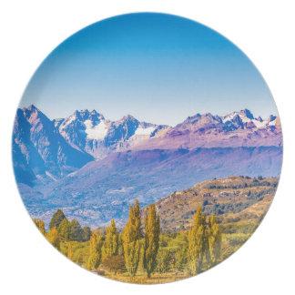 Assiettes En Mélamine Paysage de lac et de montagnes, Patagonia, Chili
