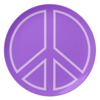 Assiettes En Mélamine peace14