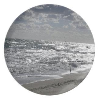 Assiettes En Mélamine Pêche et rêves de plages
