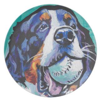 Assiettes En Mélamine Peinture d'art de bruit de chien de montagne de