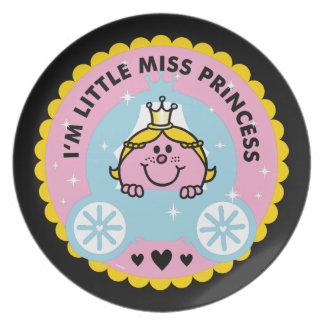 Assiettes En Mélamine Petite Mlle le princesse | je suis une princesse