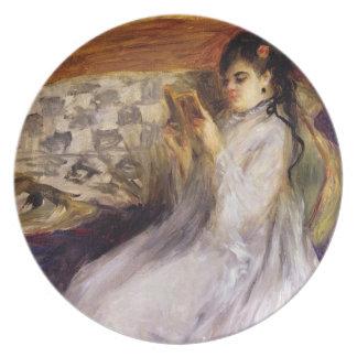 Assiettes En Mélamine Pierre une lecture de jeune femme de Renoir |