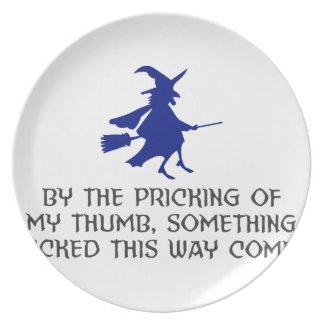 Assiettes En Mélamine Piquage de ma conception de Halloween de pouce