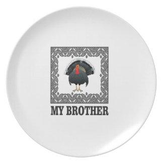 Assiettes En Mélamine plaisanterie de frère de dinde