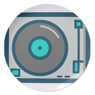 Assiettes En Mélamine Plaque tournante du DJ