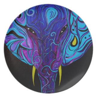 Assiettes En Mélamine Plat abstrait de mélamine d'éléphant
