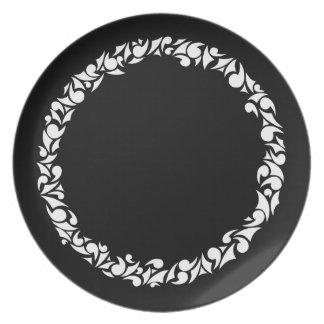 Assiettes En Mélamine Plat de dîner d'anneau de remous