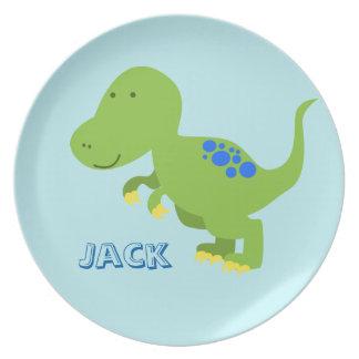 Assiettes En Mélamine Plat de la mélamine des enfants de dinosaure