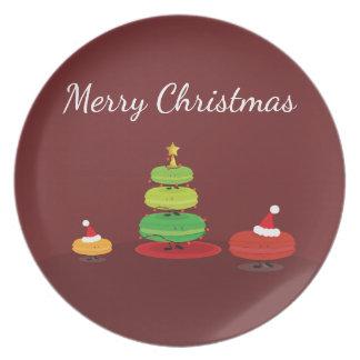 Assiettes En Mélamine Plat de mélamine de Macarons | de Joyeux Noël