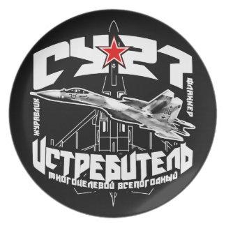 Assiettes En Mélamine Plat de mélamine de plat de la mélamine Su-27