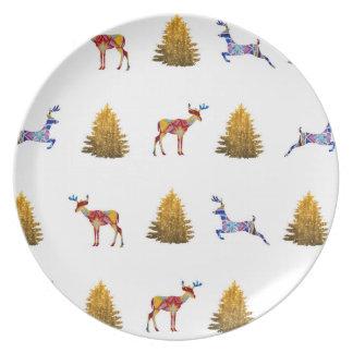Assiettes En Mélamine Plat de mélamine de temps de Noël