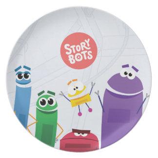 Assiettes En Mélamine Plat de StoryBots