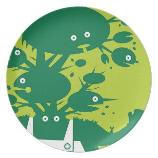 Assiettes En Mélamine Plat d'homme vert - vert