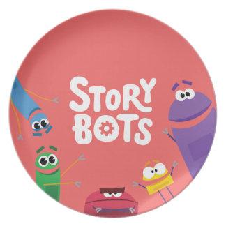 Assiettes En Mélamine Plat rouge de StoryBots