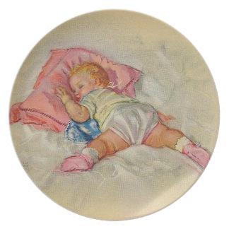 Assiettes En Mélamine Plat vintage de bébé