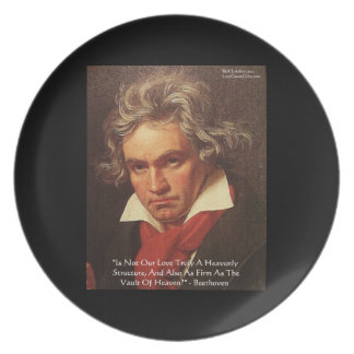 "Assiettes En Mélamine Plats de citation d'amour ""de ciel"" de Beethoven"