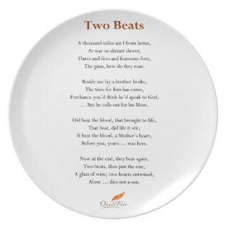 Assiettes En Mélamine Poème de deux battements